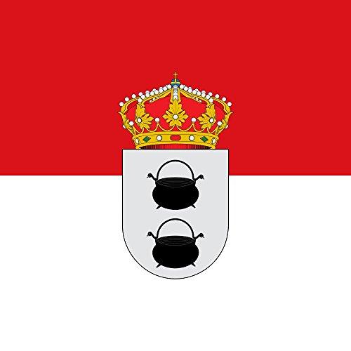 magFlags Bandera Large Municipal de Herrera de Pisuerga Palencia   1.35m²   120x120cm