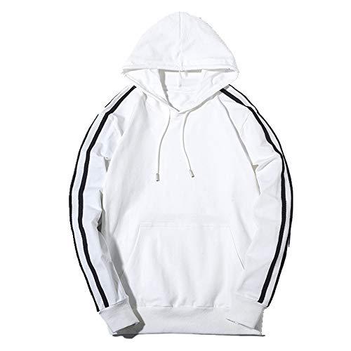 NOBRAND Trois bars Chapeau Coton Chemise Homme -  Blanc -  XL