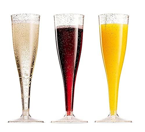 Vaso de plástico de champán desechable de 6 onzas de 200 ml se vende en 6 piezas en cada paquete (plata)