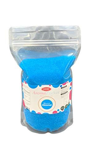 1 KG Farbzucker Aromazucker für Zuckerwatte Bunt | Erdbeere, Kirsche, Cola, Vanille, Blau Zuckerwattezucker (Bubble Gum)