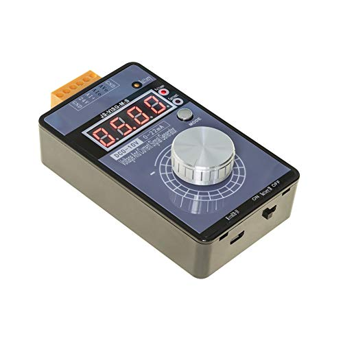 UCTRONICS DC 0-10V 0/4-20mA Current Voltage Signal Generator, Built-in Rechargeable Battery Portable Analog Simulator for PLC and Panel Debugging, Device Testing, Frequency Converter, Flow Valve
