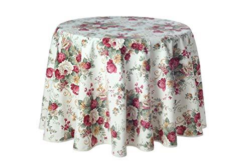 Traumhaft schöne runde Tischdecke, Motiv Irene, 180 cm von Provencestoffe