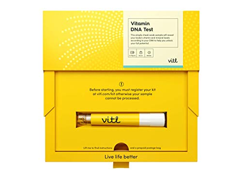 Vitl - DNA Vitamin Health Swab Test Kit | 12+ Reports on Vitamin Needs (Vitamin B12, Folate, Vitamin D, Omega 3 and More)