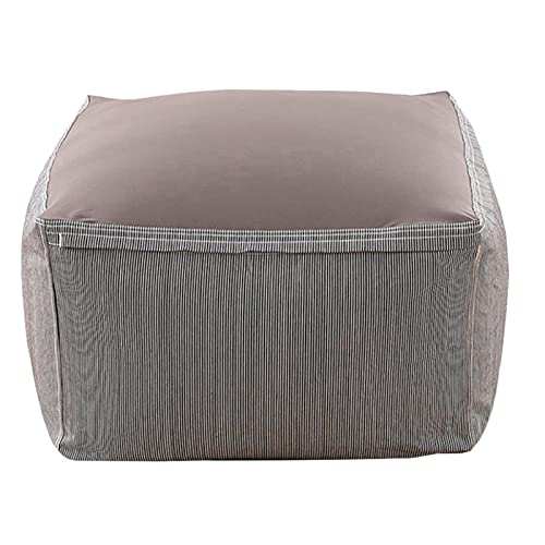 AGVER Puff Funda De Bean Bag Cubierta De Sillón Sofá Perezoso Pera Moldeable Puf (Sin Relleno),Stripes