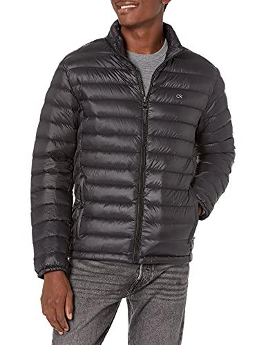 Calvin Klein Men's Classic Packable Down Jacket, black, Large