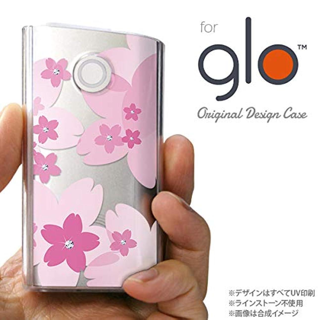 緩むサワーキャリッジglo グローケース カバー グロー 花柄?サクラ ピンク nk-glo-057