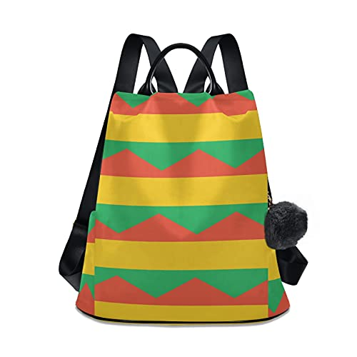 Mochila de viaje de la bandera de Bolivia, mochila casual para la escuela, para mujeres y niñas