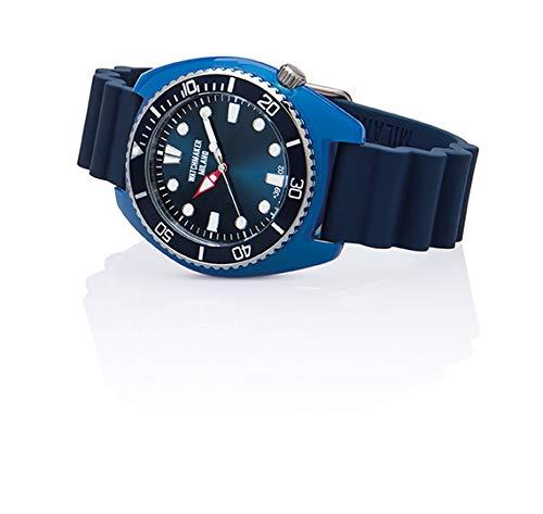 Watchmaker Milano Bella Vita Sub Orologio Uomo da Polso a Quartz con Cinturino in Silicone e Cover Colorata (Blu)