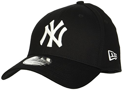 New Era 39thirty New York Yankees - Gorra para hombre, color negro (black/white), talla S/M