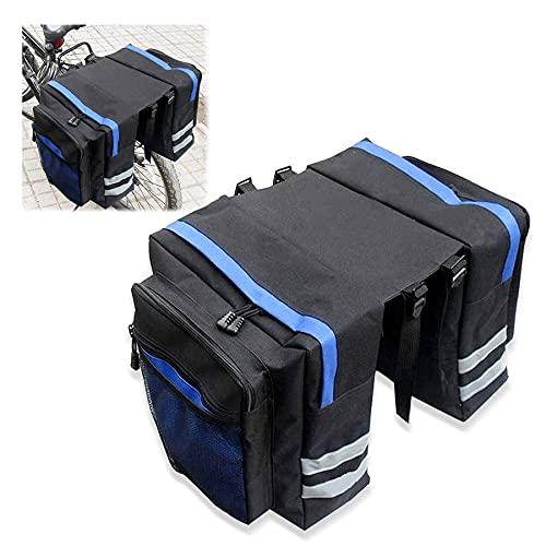 Sunshine smile Fahrradtaschen Gepäckträger,30L Gepäcktaschen für Fahrrad,Doppeltasche Fahrrad Wasserdicht,Fahrradtasche Rücksitz,Tasche...