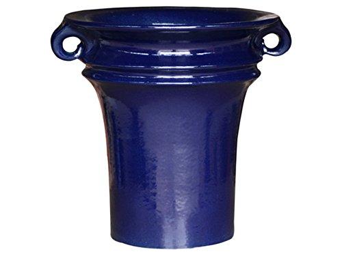 K & K plantenbak Aldebaran 60x60cm blauw van vorstbestendig aardewerk keramiek (5 jaar garantie)