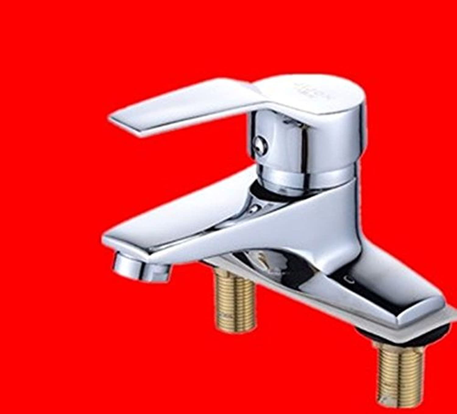 MulFaucet Faucet Water tap Taps Swivel Hoses Basin Copper Double Hole Three Holes hot and Cold Bathroom G