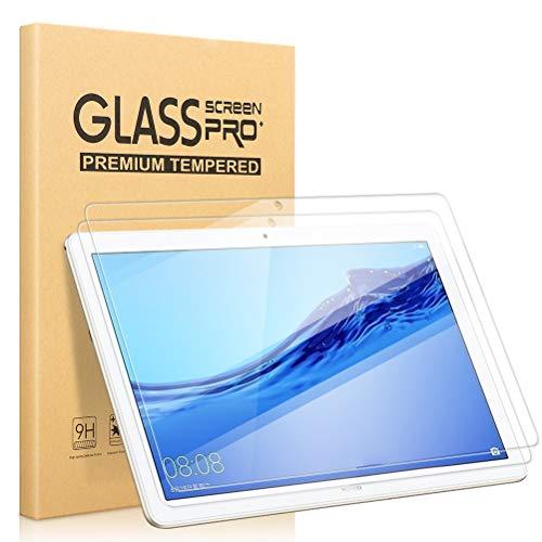 [2 Stück] Panzerglas Bildschirm Schutzfolie kompatibel für Huawei MediaPad T5 10, Klar 9H Festigkeit Anti-Bläschen Kratzresistent Schutzglas Schutzfolio Screen Protector für Huawei MediaPad T5 10 (10.1 Zoll)