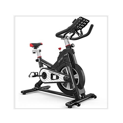 DJDLLZY Bicicletas estáticas, el Ciclismo de Interior, Bicicletas fijas de Entrenamiento, Entrenamiento Cardiovascular, Manillares Asiento Ajustable, 100 Capacidad Máxima de Carga (Negro)