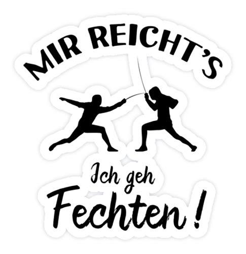 shirt-o-magic Aufkleber Fechter: Ich geh Fechten! - Sticker - 10x10cm - Weiß