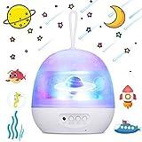 Szblk Projecteur de lumière, 4 en 1 LED Ocean Lampe de projecteur, pivotant sur 360 ° de Nuit étoilée projecteur de lumière for la décoration Enfants de Chambre à Coucher, Projecteur avec 8 Couleurs