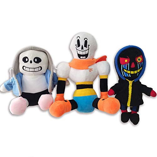 E.a@Market Undertale Plush Doll Anime Game Sans Frisk Chara Papyrus Under The Legend of The Plot Game Throw Pillow (Three Toys)