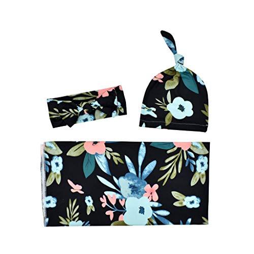 KINTRADE Recién Nacido Snuggle Swaddle Blanket Baby Boys Girls Sleeping Bag Wrap Headband Cloth