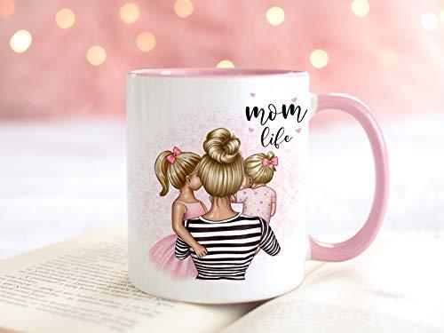 Personalisierte Tasse Mama mit Kind Mutter Tochter Mami Sohn Muttertag Geschenk
