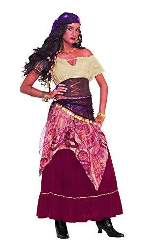 shoperama Madame Mystique Damen-Kostüm Zigeunerin Wahrsagerin Hellseherin Gypsy Kleid Goldmünzen Gr. M/L