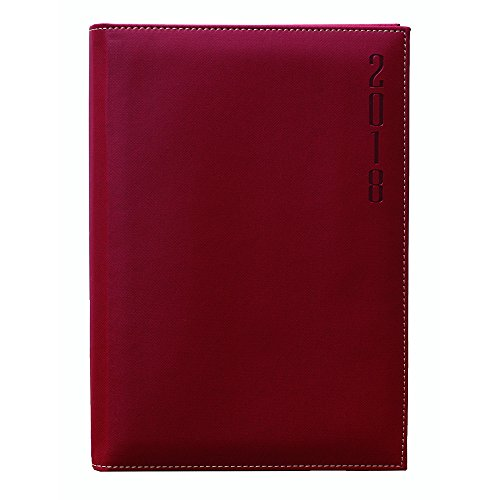 Makro Paper 002507 - Agenda 2018, 170 x 240 mm, color rojo