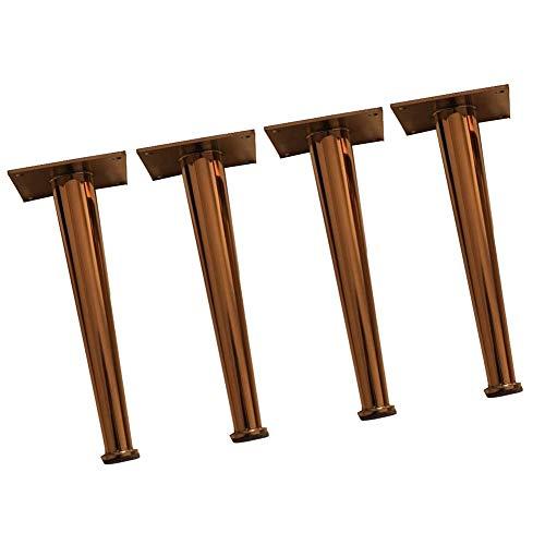 YXB Metalen meubelpoten - roestvrij stalen champagne bankvoeten - ondersteuning bedvoeten - accessoires - meubelrek salontafel, geschikt voor alle soorten meubels, kasten, stoelen, enz, 4 verpakkingen
