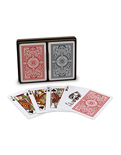 US Playing Card Arrow Wide Standard Index, 2 Mazzi di Carte di Poker di qualità Premium Unisex-Adult, Rosso e Blu, 62.5x88 mm