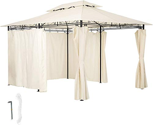 Deluxe Tents Have 6 Side Plate Tents, Side Plate Curtains, Waterproof, Garden Terrace Party Anti-UV,White