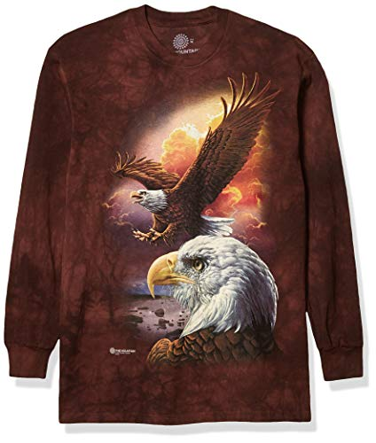 The Mountain T-Shirt Manches Longues Eagle & Clouds Marron Taille L