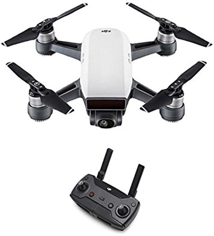 DJI Spark - Mini-Drohne + Remote Fernbedienung, max. Geschwindigkeit von 50 km h, bis zu 2 km übertragungsreichweite, 1080p Videos mit 30 fps und 12 Megapixel Fotos - Wei