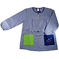 Kiz Kiz Bata Escolar Infantil Baby Infantil de Cuadros Pequeños (Azul, 1)