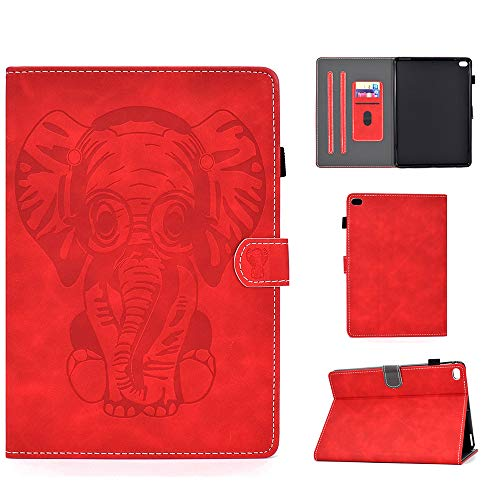 iPad Air Case iPad Air 2 Case New iPad 9.7 inch 2017/2018 Case Multi-Angle Auto Wake/Sleep Folio Smart Cover Stand Wallet Shell for New iPad 9.7 2017/2018 iPad Air (Elephant Red)