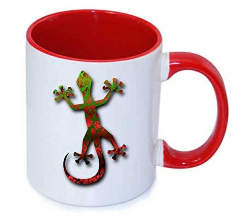 Druckerlebnis24 Tasse - Gecko Tier Dschungel Eidechse - Kaffee-Tasse 330ml - Unisize aus Keramik - Tee