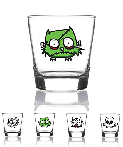Juego de 4 vasos chupito 9 cl. Modelo Monsters