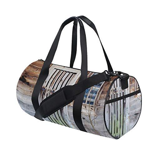 HARXISE Bolsa de Viaje,Caligrafía Nerd en Sello como diseño Grunge patrón básico para Gente Geek,Bolsa de Deporte con Compartimento para Sports Gym Bag