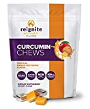 Reignite Wellness by JJ Virgin Curcumin Chews - Delicious Turmeric Soft Chewables Concentrated with Superfood Curcumin - Supplement to Support Heart & Brain Health - Mango-Nectarine Flavor (30 Count)
