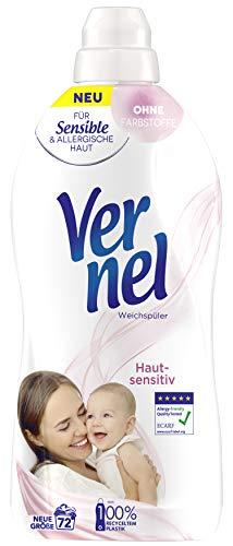 Vernel Hautsensitiv, Weichspüler für Allergiker, mit mildem Duft (72 (1x72 Waschladungen))
