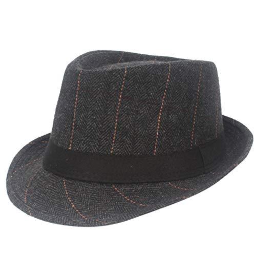 LOPILY Sombrero de Lana para Hombre Sombrero de Hombre a