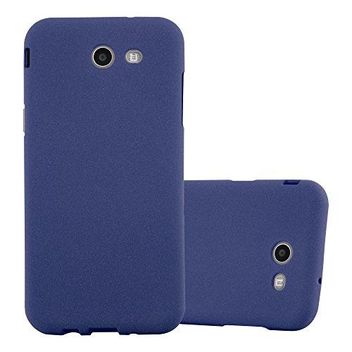 Preisvergleich Produktbild Cadorabo Hülle für Samsung Galaxy J5 2017 (7) (US Version) Frost DUNKEL BLAU Handyhülle aus TPU Silikon im matten Frosted Design - Silikonhülle Schutzhülle Ultra Slim Soft Back Cover Case Bumper