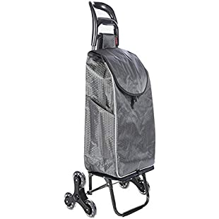 YAWANG Shopping Cart - Grocery Trolley - Folding Lightweight Quite Large Capacity Supermarket Climb The Stairs Pull Cart (Color  Gray B):Wenstyle