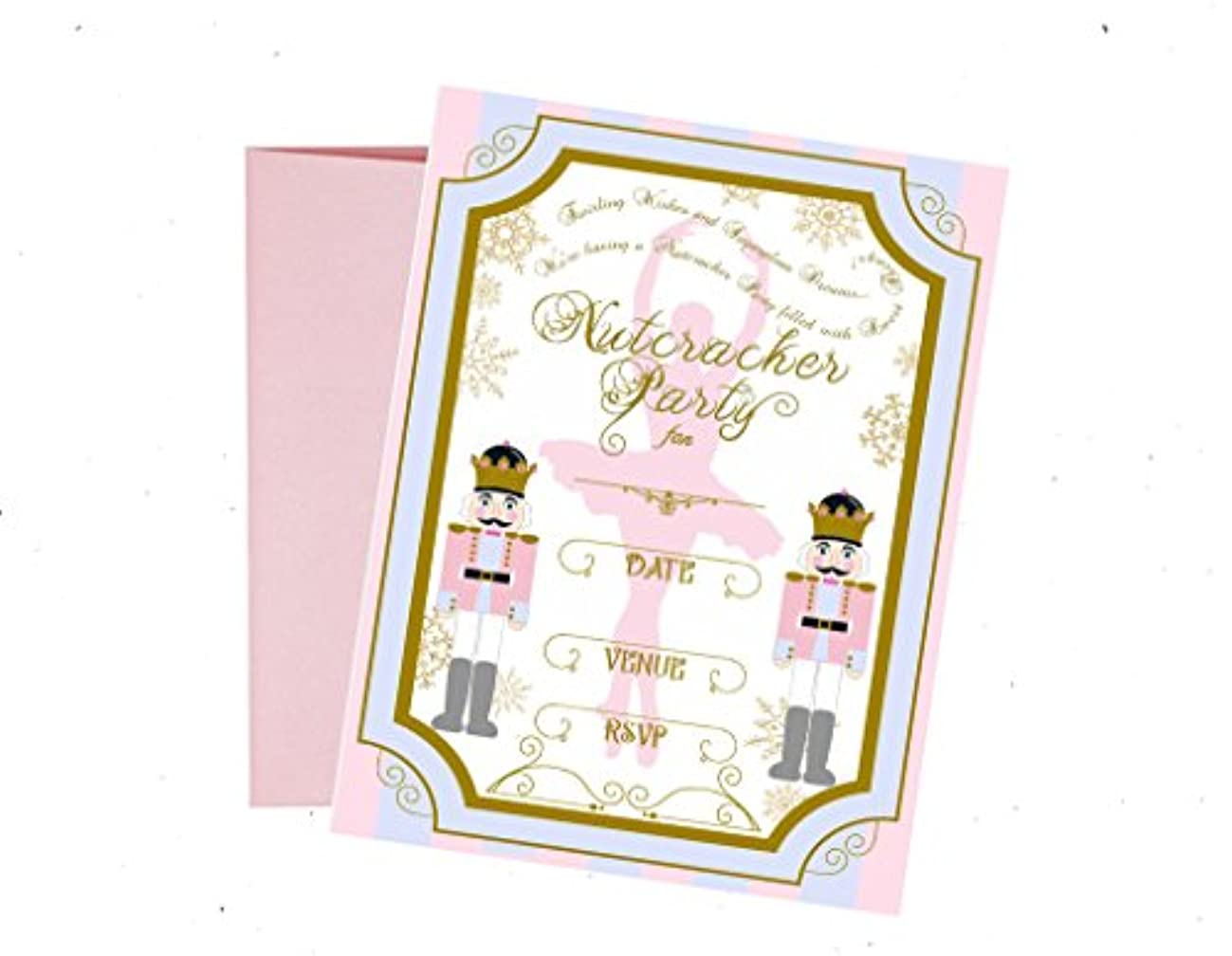 Nutcracker Themed Party Supply and Decorations (Invitations with Envelopes)