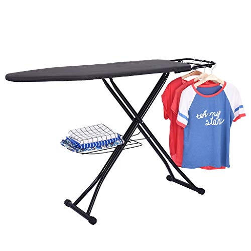 OKBOP Folding Ironing Board with Steam Iron Rest | Adjustable Height Extra Wide...