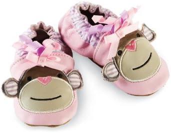 Mud Pie Baby-Girls Newborn Pink Monkey Shoe Socks