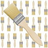 Kurtzy Brochas para Pintar 5,08 cm (Pack de 24) Set Brocha Plana Pintura de Madera Profesional para Pintar, Tintes, Barnices, Pegamentos y Bricolaje en el Hogar ? Pack de Pincel Madera