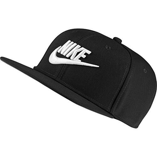 Nike PRO, Cappellino con Visiera Unisex Bambini, Black/Black/White, MISC