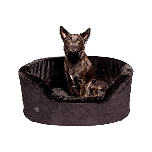 Pets&Partner Hundekorb für mittlere und große Hunde, Rutschfest, Kofferraum geeignet, Größe L, Schwarz