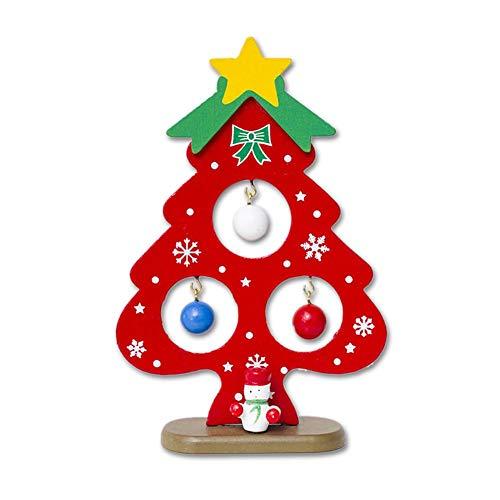 Knowled Décorations pour Arbres de Noël Tentures en Bois Ornements Étiquettes pour Cadeaux de Noël Pendentif en Arbre de Noël pour Anniversaire, Mariage et Accessoires de Cadeau de Saint Valentin