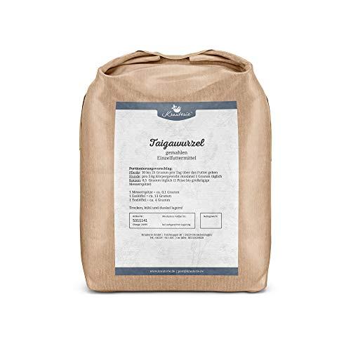 Krauterie Taigawurzel gemahlen in hochwertiger Qualität, frei von jeglichen Zusätzen, für Pferde, Hunde und Katzen (Eleutherococcus senticosus) – 1000 g