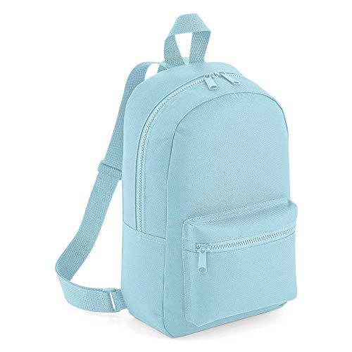 123t BG153 Mini Essential Fashion Backpack - Powder Blue Blank Plain