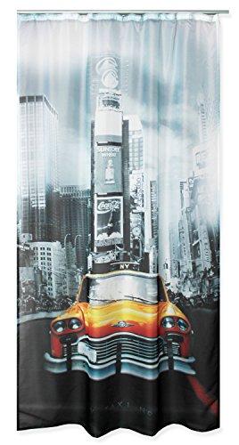Haus und Deko Voile Dekoschal Bedruckt ca. 140x245 Vorhang halbtransparent Gardine Band #1646 New York